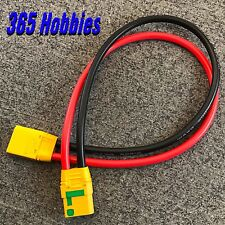 """Qty-1 Male XT-90 to Female XT-90 14"""" Extension Anti Spark 10G Adapter XT90 Ebike"""