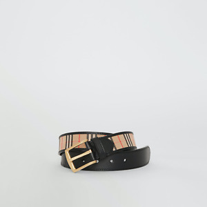"""Burberry 1983 Check Belt in  Black, BNWT & Protective Bag. Size 40"""" 100cm"""
