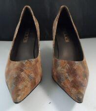MODA SPANA Women's Size 7 1/2 M Heels Paisley Pattern Classic PUMPS Shoes