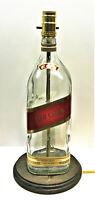 Johnnie Walker Red Label Large 1.75L Liquor Bottle TABLE LAMP Light Wood Base