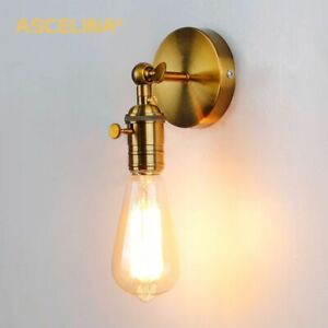 27E Bulb Iron Retro Gold Wall Sconce Industrial Wall Lamp Vintage Wall Light Lof