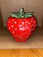 vintage strawberry cookie jar