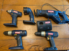 Ryobi 18V Impact Drill, Power Tools Combo Set / 5 Tool 1 Charger Lot - Tested
