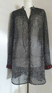 GREAT PLAINS PATTERNED BLOUSE - LONG SLEEVES - SIZE M (UK12-14) - V.G. CONDITION
