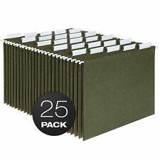 Hanging Organizer File Cabinet Folders Letter Size Green 25 Pack Folder Hanger