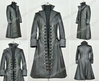 Once Upon A Time 3 Captain Hook Cosplay Costume Pirate Retro Leather Trench Coat