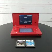 Nintendo Ds Red W/Camera 2 Games Plus Charger