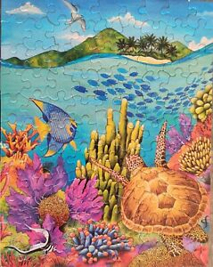 8 Seaside Jigsaw Puzzles Ocean Turtle Whale Fish 2013 Enright 100 - 500 Pcs
