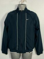 MENS NIKE SMALL NAVY SPORTS ATHLETIC TRACKSUIT JACKET TOP WITH DETACHABLE ARMS
