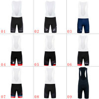 Team Men's Cycling Bib Shorts 3D Pad Riding Bicycle Tights Short Pants Bike Wear