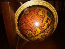 World Globe Bookend (1) Made in Italy 6.25X6 Vintage