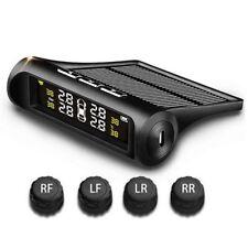 Wireless Solar TPMS Car Tire Tyre Pressure Monitor Monitoring System 4 Sensor