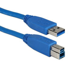 6 Ft USB 3.0/3.1 Compliant 5Gbps Type A Male to B Male Blue Cable