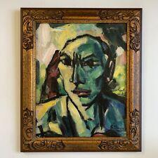 Female Dutch Abstract Expressionist Henrica Maria Bob Stork-Damen Oil Portrait