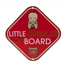 Arsenal Fc Little Dribbler Car Window Sign Baby on Board Red Soccer Team New