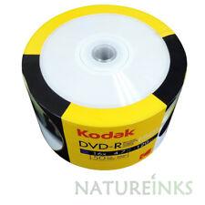 50 Kodak White Inkjet Printable Blank DVD-R 16x 4.7GB 120 mins Discs Shrinkwrap