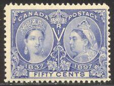 Canada #60 Mint Beauty - 1897 50c Ultra, Jubliee ($375)