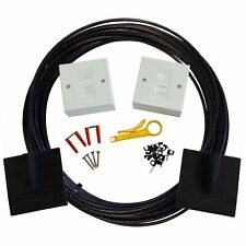 100m Cat6 External Socket to Socket Outlet Extension Network Kit Face Plate Box