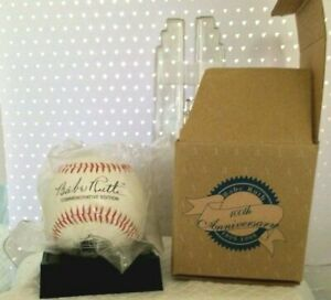 """Babe Ruth """"100th"""" Anniversary Commemorative Baseball-Display Stand & Certificate"""