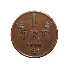 KM# 750 - 1 Ore - Oscar II - Sweden 1900 (VF)