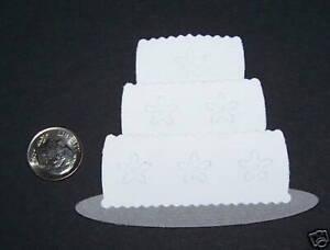 3 Wedding Cake PAPER Die Cuts / Scrapbook & Card Making