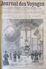 JOURNAL DES VOYAGES N° 901 de 1894 AEROSTAT BALLON PHOTOGRAPHE SCAPHANDRIER