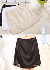 6acd8d3353 White Black Beige Satin Short Half Slip Petticoat Lingerie Accessories S-XL  6-16