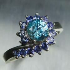 Anelli di lusso con gemme naturali blu tanzanite