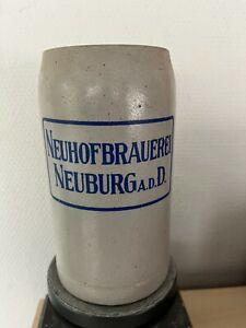 Sehr alter Bierkrug, Masskrug, Neuhofbrauerei Neuburg a.d. Donau, ca. 1950