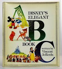 Disney's Elegant ABC Book - SIGNED Vincent Jefferds 1983 1st/ 1st