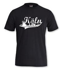 """T-Shirt Köln """"SKYLINE KÖLN"""" Fußball Kölle Shirt Karneval Skyline City NRW Stadt"""