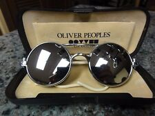 STEAMPUNK SILVER AND MIRRORED Rx EYEGLASSES Frames WITH Oliver Peoples Case