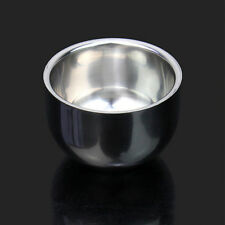 Shinning Stainless Steel Durable Double Layer Shaving Shave Brush Mug Bowl Cup