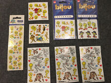 More details for looney tunes warner bros perfect condition stickers retro vintage 90s