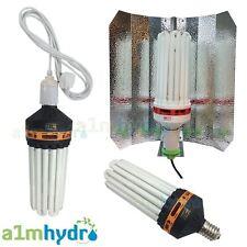 Omega CFL 300W Bulb Euro Shade Reflector Grow Light Kit Hydroponics