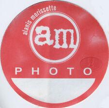 Alanis Morissette 1999 Junkie Tour Backstage Pass Garbage
