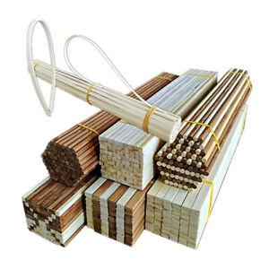 10Pcs Round Nan Bamboo Sticks Wood Rectangle Rod Model DIY Handcrafts Supplies