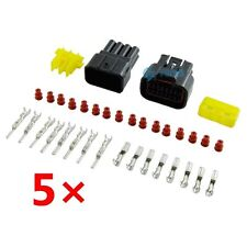 5 Kit 8 Pin Way 10A 2.3mm Waterproof Electrical Connector Wire Plug Socket US