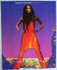 Lenny Kravitz 1993 Poster Ad Believe are you gonna go my way