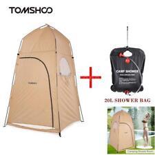 Outdoor Shower Bath Changing Room Tent Camp Toilet Shelter +20L Shower Bag I0J2