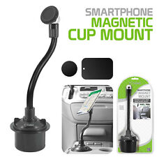 Magnetic Car Cup Holder Phone Mount for iPhone X, 8 Plus, Galaxy Note 8, S8 Plus