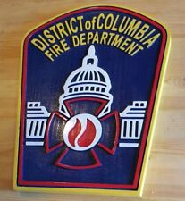 Fire Department DC Columbia Old Style 3D routed patch plaque sign Custom