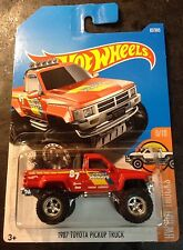 Hot Wheels 2017 CUSTOM 1987 Toyota Pick Up Truck with 5 Spoke Real Riders