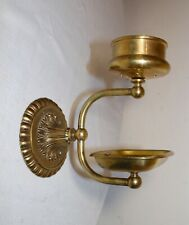 vintage ornate brass bathroom wall mount soap dish holder toothbrush cup rack