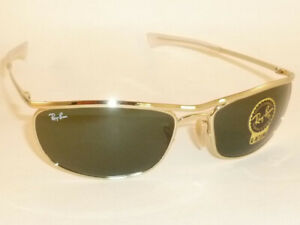 New Ray Ban OLYMPIAN I DELUXE Sunglasses Gold Frame RB 3119M 001/31 Green Lenses