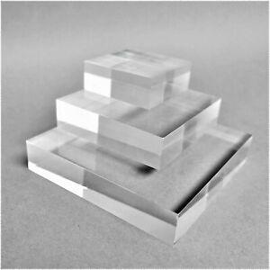 20mm Clear Solid Acrylic Display Blocks - Jewellery - Watch - Window Display