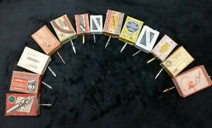 13 Vintage Calligrahy nibs (brands as Myers, Gillott, Mitchell)  - New