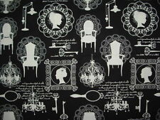 Beautiful Victorian Lady Timeless Treasures Cotton Fabric Sold BTHY