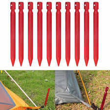 5 x Leichte Alu Erdnagel rot 18 cm Y-Shape Trekking Camping Zelt Heringe Nagel