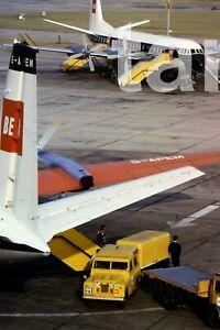 35mm slide aeroplane airplane London airport Heathrow baggage 1960s r187